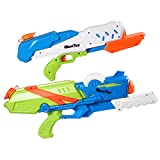 iBaseToy Water Gun for Kids, 2 Pack 10M Long Range Water Pistols Squirt