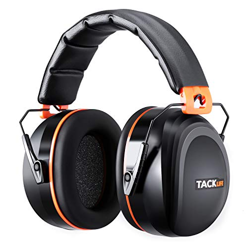Noise Reduction Safety Ear Muffs, Tacklife [Reinforced] NRR...