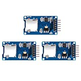 AiTrip 3PCS Micro SD Card Module with chip Level Conversion for Arduino,SDHC Card TF Card Adapter Reader