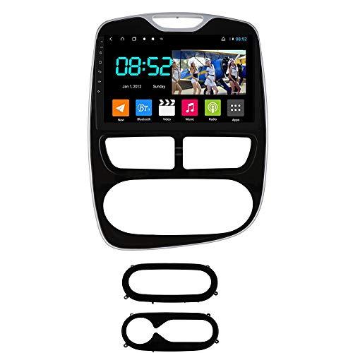 Foof Autoradio Coche Bluetooth 2 DIN Android Radio De Coche 10.1'' Pantalla Táctil WiFi Completo RCA SWC Soporte Carautoplay/GPS/Dab+/OBDII para Renault Clio 4 2012-2016,Octa Core,4G WiFi 4G+64G