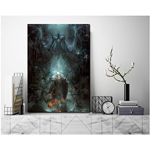 Diablo 3 Poster Games 1 Piece HD Pictures Art Paintings Canvas Art for Home Decor Wall Art Regalos para padres y amigos -50x75cm Sin marco