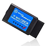 BAFX Products Wireless WiFi (OBDII) OBD2 Scanner &...