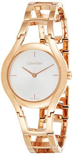 Calvin Klein Damen Analog Quarz Uhr mit Edelstahl Armband K6R23626