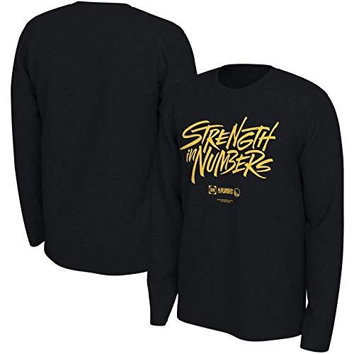 ZSPSHOP Camiseta de manga larga para hombre de la NBA 2019 otoño Celtic/Warrior/Bucks Team Wear versión suelta de la camiseta de baloncesto (color: A, tamaño: XXL)