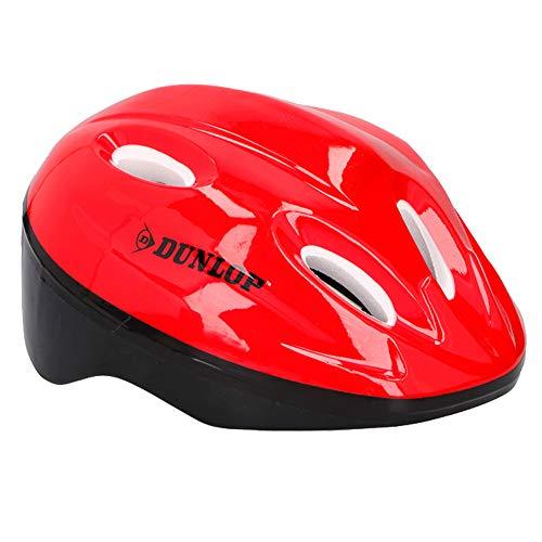 URBNLIVING Dunlop Kinder-Fahrradhelm mit verstellbarem Riemen, Kinder, rot