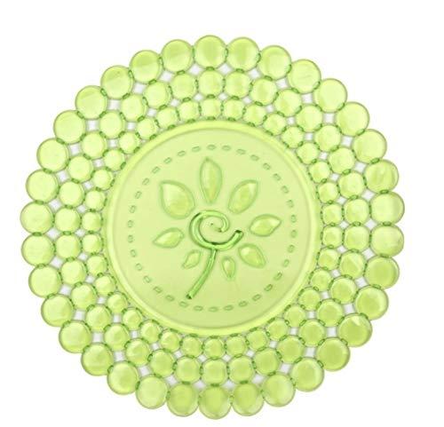 Salvaplatos redondo Mod. Flor (REF. 158/42 34 cm diámetro, Verde pistacho translúcido)