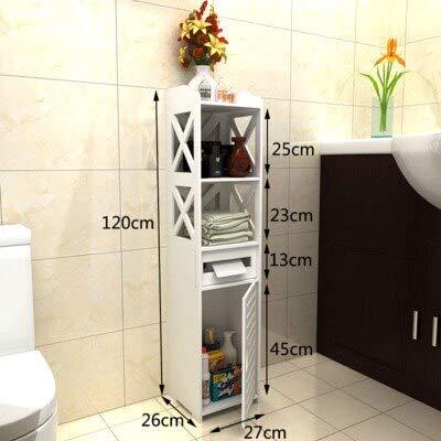 ADSIKOOJF Fashion badkamer opslag rek vloer staande badkamer opbergkast wastafel douche plank hoek kast