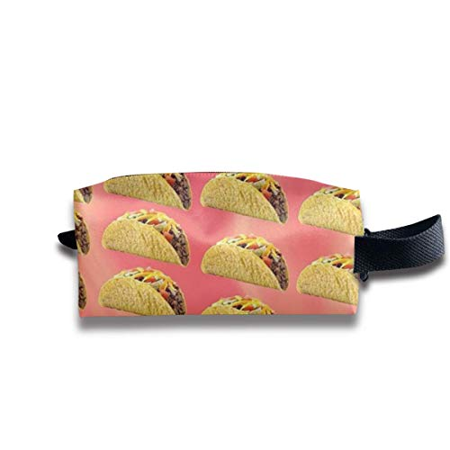 Mexican Taco Storage Bag Women Travel Makeup Train Case Organizer - Multi-Purpose Tote Bag Pen Bag Holder, Carrying Case for Cosmetics Pen Eyeliner Travel Bills