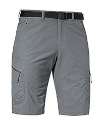 Schöffel Shorts Silvaplana2 Herren Hose, vielseitige Wanderhose mit separatem Gürtel, komfortable Outdoor Hose mit praktischen Taschen, grau,54