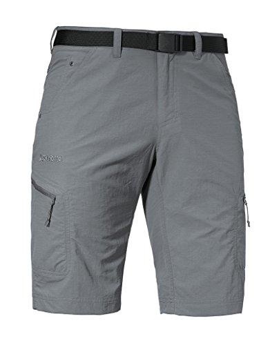 Schöffel Shorts Silvaplana2 Herren Hose, vielseitige Wanderhose mit separatem Gürtel, komfortable Outdoor Hose mit praktischen Taschen, grau,48