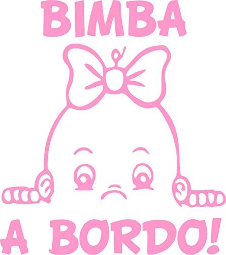 Adesivo Bebe a Bordo - Bambina a Bordo - Bambino a Bordo - Adatti per Auto - Moto E Computer - Sticker - Adesivo - Copyright © 2017 | (Rosa)
