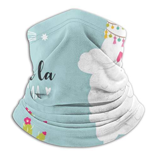 Towel&bag Yoga Llama - Bufanda de microfibra para el cuello, para deportes al aire libre, color negro