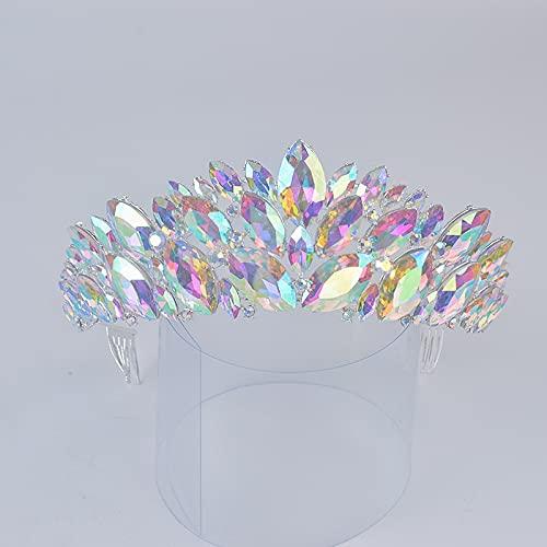 YSJJBTS Sombreros Moda Tienda DE Novia DE LA CORONICIA Tiaras Cristal Cristal...