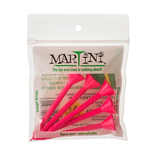 ProActive Sports Martini Golf 3-1 4  Durable Plastic Tees 5-Pack (Pink)