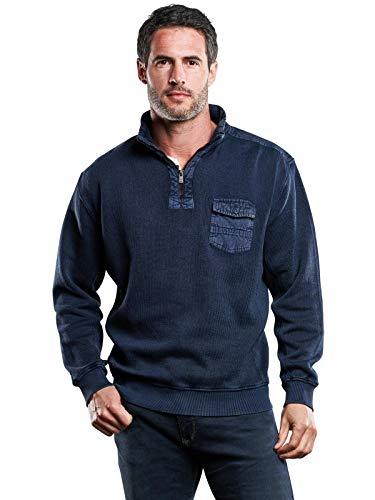 engbers Herren Sweatshirt Stehbund, 28838, Blau in Größe L