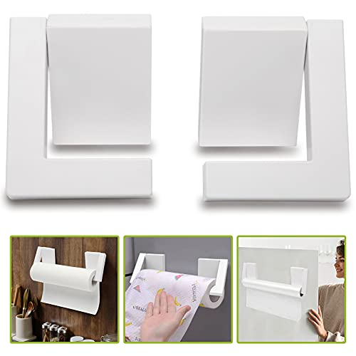 Kitchen Organization and Storage,Magnetic Paper Towel Holder for Refrigerator Kitchen Home,Toilet Paper Storage Holder Wall Mount with Drill Free