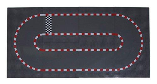 Strictly Briks - Bauplatten Rennbahn - stapelbar - 100 % kompatibel mit Allen führenden Marken - 10 x 10 (25,4 x 25,4 cm) - 8 Stück