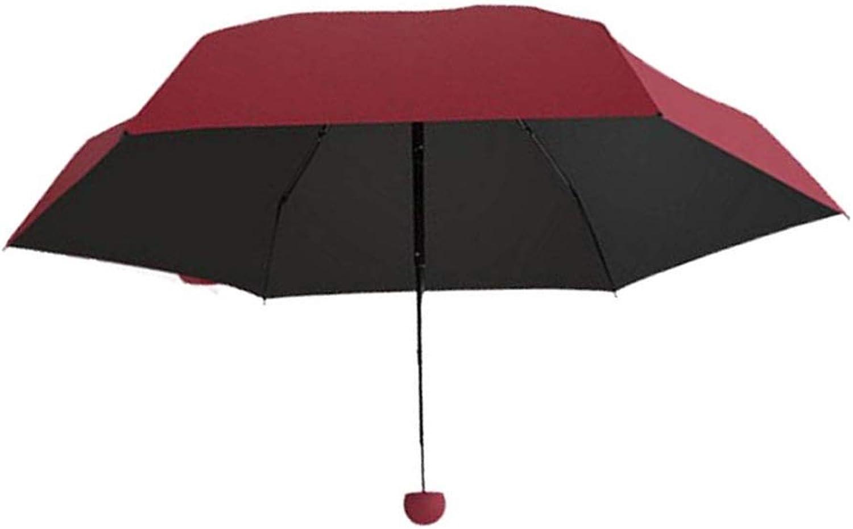 Umbrella, Portable Ultra Light Small Mini Cute Folding Capsule Umbrella, UV Predection and Windproof 5 Folding Travel Pocket Umbrella