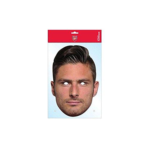 Olivier Giroud Arsenal FC Mask, Mask-arade Face Card Mask, Character Fancy Dress