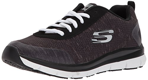 Skechers Women's Comfort Flex Sr Hc Pro Health Care Professional Shoe,black/white,9 M US