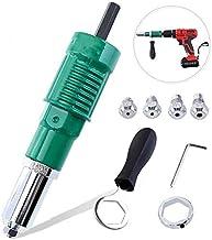 Herramienta de remachado de pistola de tuerca de remache eléctrica, adaptador de taladro de remache, herramientas de tuerca de inserción de adaptador de taladro de remache inalámbrico, pistola de rem