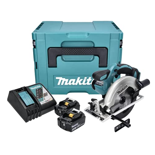 Makita DSS 611 RF1J 18V Li-ion Scie Circulaire sans fil 165mm + Coffret Makpac + 2x Batteries BL1830 3,0 Ah + Chargeur DC 18 RC