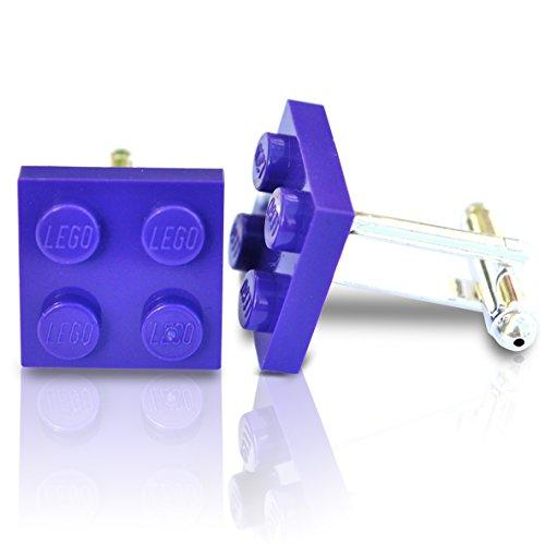SJP Cufflinks LEGO® plaque Boutons de manchette (Violet) Mariage, marié, Coffret cadeau pour homme