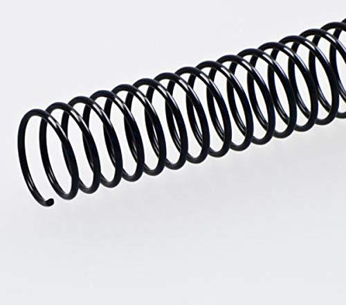 Fellowes 5111401 - Pack de 50 espirales metálicas 30 mm, negras