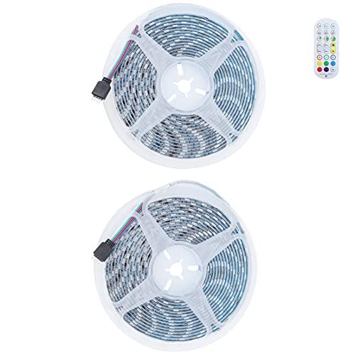 KAKAKE Tira de luz, Fuerte Tira de luz remota autoadhesiva IP65 Micrófono de Alta sensibilidad a Prueba de Agua para Crear un Ambiente cálido para la Sala de Estar