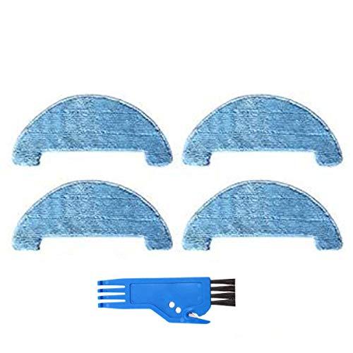BLUELIRR Mikrofaser-Wischtuch, kompatibel mit AMIBOT Spirit/Animal H2O Roboter-Staubsauger, 4 Stück