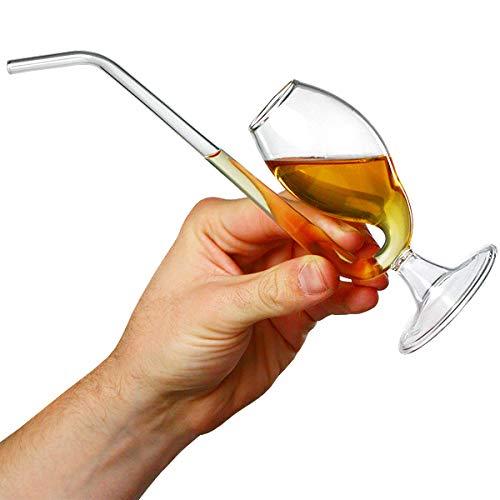 Bar@Drinkstuff - Pipa de brandy en caja de regalo | pipa de puerto, puerto sorber | cristal único brandy para la apreciación del sabor completo