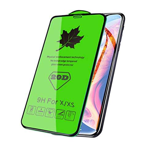 Protector de pantalla de cristal curvo 20D para X XR XS Max,...
