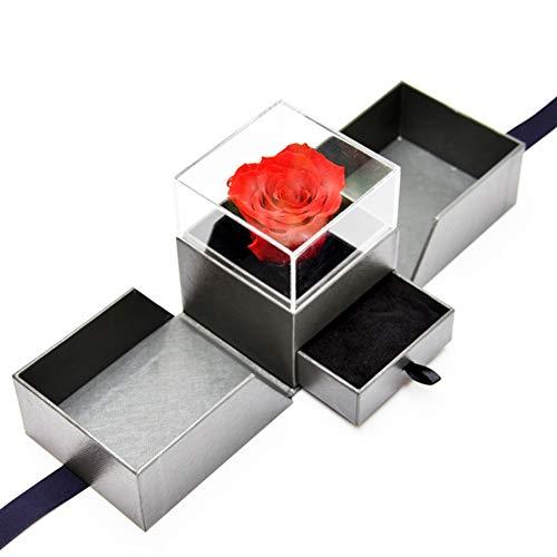 SETSCZY Rosa Eterna,Rosa Bella y Bestia,Regalos para San Valentin,Regalos San Valentin para Mujer,Rojo
