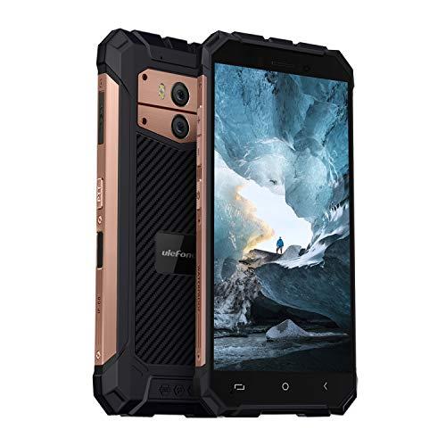 (2019) Ulefone Armor X2 Outdoor Handy, 5500mAh Akku, NFC, IP68 Wasserdicht, Stoßfest und Staubdicht 5 Zoll Display, 2GB + 16GB Fingerabdruck Face ID WiFi GPS Bluetooth - Rosegold