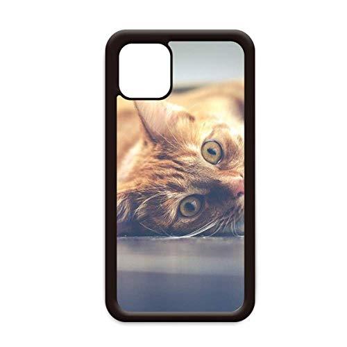 Animal amarillo gato fotografía imagen para iPhone 12 Pro Max cubierta para Apple mini caso móvil Shell