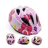 UnaFreely 子供用 軽量 ヘルメット サイクリング 自転車 スケート びっくり 軽い ヘルメット 幼児 キッズ 子供 小学生 通学 アジャスター付き 2-6 歳 (サクラ)