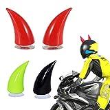 ZNEU Motorcycle Helmet Demon Horn Sucker Accessories - Corna Diavoletto da Applicare al Casco da Sci, Moto, Adulto, Bambino Helmet (Rosso)