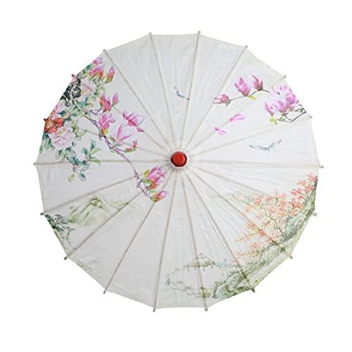 Kvinnor u-mbrella japanska körsbärsblommor silke gammal dans u-mbrella dekorativa u-mbrella kinesisk stil oljepapper u-mbrella (Color : A2)