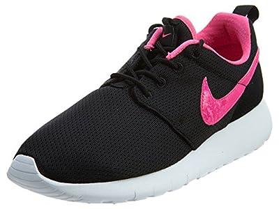 Nike Roshe One Big Kids Style Shoes : 599729, Black/Pink Blast-White, 6.5