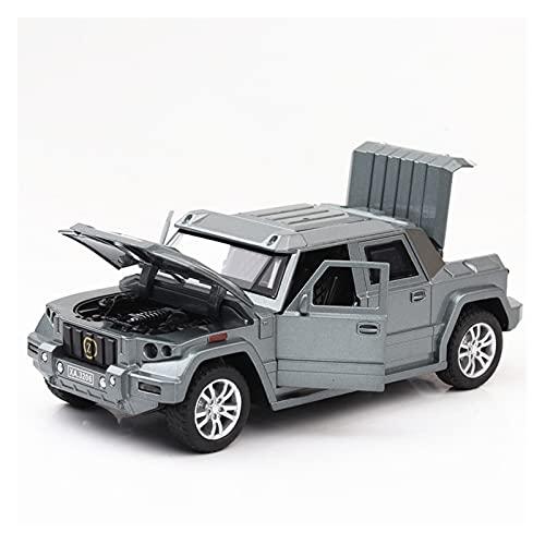 Kit Juguetes Coches Metal Resistente para Kebherr Battle Shield Tire hacia Atrás con Sonido Y Luz 1:32 Toy Diecast Alloy Metal Model Simulation Car Maravilloso Regalo (Color : Plata)