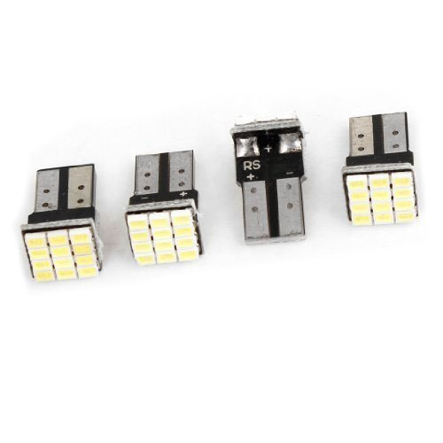 T10 lampe de voiture - SODIAL(R)T10 W5W Canbus blanc lampe de voiture LED 12-SMD 1206 d¡¯ampoules 12V 4 pieces