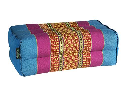 ANADEO YogaProducts Standard - Cojín de Yoga y Meditación Estándar Zafu - Kapok de Allta Densidad 100% Natural - Comodidad y Firmeza - Estabilidad del Asiento - Azul Violeta - X1