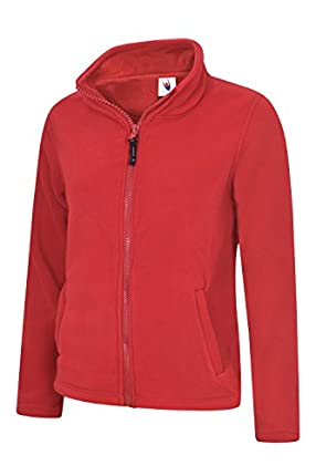 Uneek clothing UC608 - Chaqueta clásica de Forro Polar con Cremallera Completa (300 g/m²), Color Rojo