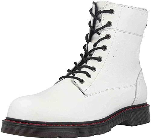 MUSTANG Damen Leder Stiefel Weiß, Schuhgröße:EUR 37