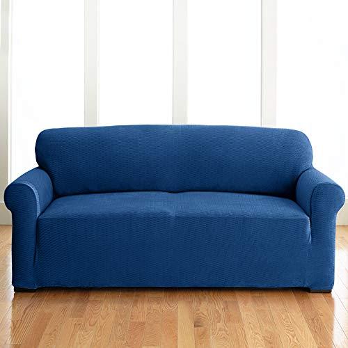 BrylaneHome BH Studio Brighton Stretch Sofa Slipcover, Navy