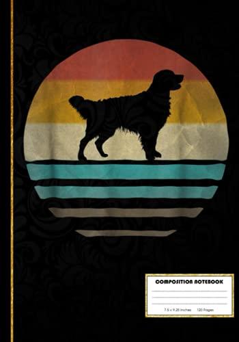 Golden Retriever Dog Shirt Retro Vintage 70s Composition Notebook: Golden Retriever Dog Nerd | College Ruled Notebook Lined School Journal | 120 Pages ... Teacher Book Notes Gift | Subject Workbook