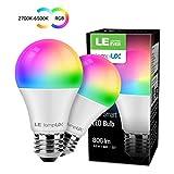 LE Alexa Lampadina LED RGBW E27, 8.5W (=60W), LED Lampadina Intelligente RGB + Bianco Regolabile...