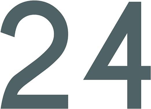 Zahlenaufkleber Nummer 24 Schwarz 10cm 100mm Hoch Aufkleber Mit Zahlen In Vielen Farben Höhen Wetterfest Küche Haushalt
