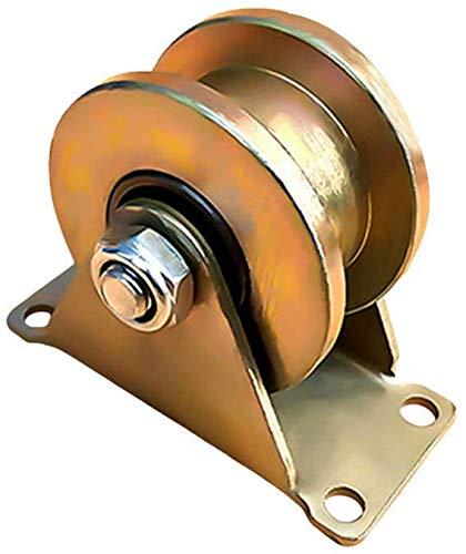 H-Groove stijve spoor wiel schuifdeur Roller met beugel high-performance schuur deur Rollers 45# Staal schuifpoort Accessoires voor poort Frames trolleys voor industriële machines draad 100 mm.