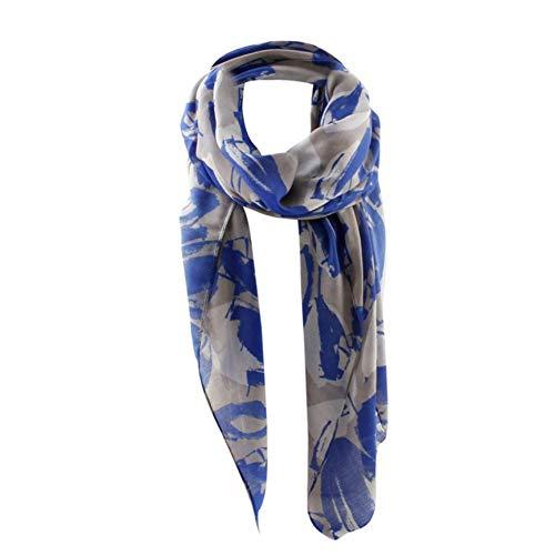 MYTJG Lady sjaal Dames Lange Twill Gedrukt Blad Patroon Sjaal Warp Sjaal Mode Stijl Dames Sjaal